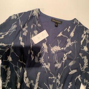 Banana Republic Soft Flowy Dress Slate Blue 12P